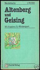 Wanderkarte, Altenberg und Geising, 1986