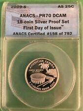 2009-S Silver American Samoa Quarter - ANACS PR70 - Perfect Coin - 1st Day