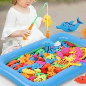 1 Set Baby Kids Magnetic Fish Bath Toy Child Game Rod Fishing Toddler Toys UK