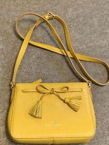NEW Kate Spade New York Mustard Yellow Small Leather Adjustable Crossbody Bag