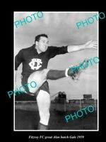 OLD LARGE HISTORIC PHOTO OF FITZROY FC GREAT ALAN 'BUTCH' GALE c1959