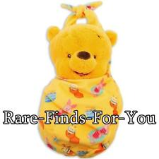 """Disney Parks Winnie the Pooh Babies Piglet Blanket Pouch Plush Doll Toy 10"""" NEW"""