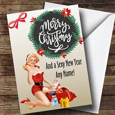 Sexy Little Xmas Personalised Christmas Card