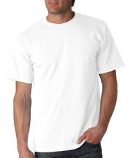 3 , 6 PACK MENS 100% COTTON SOFT CREW NECK WHITE T-SHIRTS UNDERSHIRT TEE L- 3XL