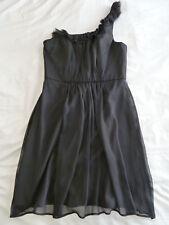 Basque 14 One Shoulder Black Formal Dress
