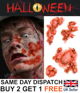 Halloween Zombie Scars Tattoos Virus Fake Blisters Scar Wound Costume Make-Up