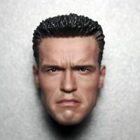 Custom 1/6 Arnold Schwarzenegger Male Head Sculpt T800 Model for Phicen Figure