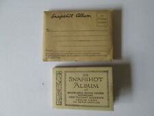 Brooklands Sepia gravure Snapshot  album.Brooklands postcard.
