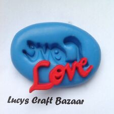 Moule silicone mot amour mariage mariage valentine romance Cupcake topper fimo