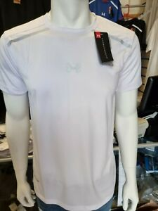 Under Armour white T shirt latest new Heat Gear gym Size  XL bnwt