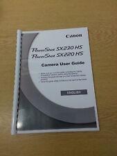 Canon PowerShot SX230 HS Manuale di Istruzioni User Guide stampate 206 pagine A5