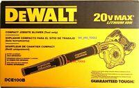 NEW IN BOX Dewalt DCE100B 20V Cordless Blower 20 Volt MAX Compact Jobsite 100CFM