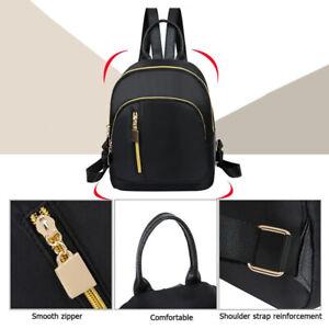 New Women Lady Small Black Backpack Waterproof Nylon Rucksack Casual Bag Fashion