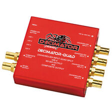 NEW Decimator DD-DEC-QUAD: QUAD 4 Channel Multi-Viewer, SDI & Composite Outputs