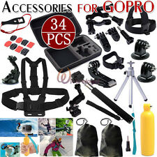 30 in 1 Monopod Pole Floating Head GoPro Hero 2 3 4 5 Camera Accessories Set Kit