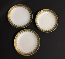 Set of 3 Limoges Gold Greek Key Butter Pats