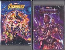 2 Dvd Marvel AVENGERS INFINITY WAR + ENDGAME Thor Iron Man Hulk Captain America