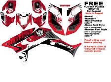 DFR ICON GRAPHIC KIT RED SIDES/FENDERS 06-07 HONDA TRX450R TRX 450  TRX450