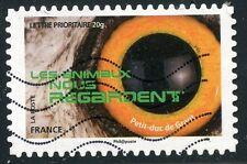 TIMBRE FRANCE AUTOADHESIF OBLITERE N° 1153 / LES ANIMAUX NOUS REGARDE