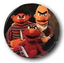 "Bad Muppets 25mm 1"" Botón Insignia Niñas Retro TV Barrio Sésamo Años 70 80 elmo"