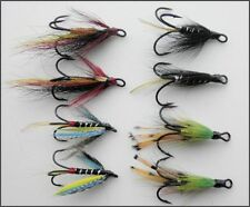 8 Salmon Flies, Treble Hook Pack, 4 Types,  Size 12 - UK FREE DELIVERY