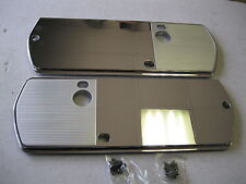 1968 68 CHEVELLE NEW PAIR OF CHROME ARM REST BACKING PLATES