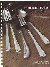 VINTAGE AD SHEET #3190 - PEWTER by INTERNATIONAL SILVER COMPANY