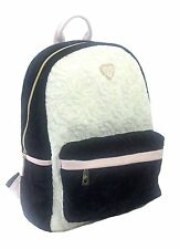 Betsey Johnson BACKPACK Large, Quilted VELVET ROSES Black/Cream, BLUSH trim SALE
