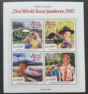 [SJ] Sierra Leone 23rd World Scout Jamboree 2015 Scouting Butterfly (ms) MNH