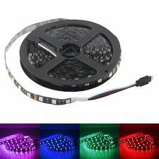 1M 5M 10M 20M 5050 RGB Color 60LEDs/M Flexible LED Light Strip PCB Black DC 12V