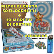 10 Cartine Lunghe Pop Filters 50 Filtri di Carta a cartoncino Pop Filters