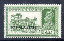 INDIA- PATIALA  1937-38  KGVI   SG86   3anna    MM