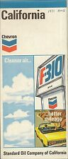 1971 CHEVRON F-310 GAS PUMP Road Map CALIFORNIA Los Angeles Sacramento Yosemite