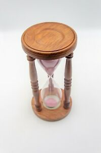 Antique Finish Wooden Hourglass Vintage Sand Clock Timer Nautical Home decor