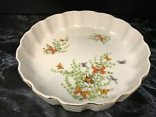 "Shafford Ecstasy QUICHE DISH 9.5"" Butterflies Fine China Serving Butterfly"