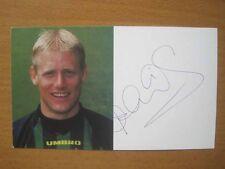 1996-98 Peter Schmeichel Firmado Man Utd tarjeta club una (1992)