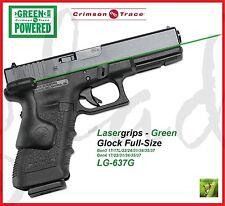 CRIMSON TRACE LG-637G LASERGRIPS - Glock Gen3/Gen4 Full-Size 17/22/31/34/35/37