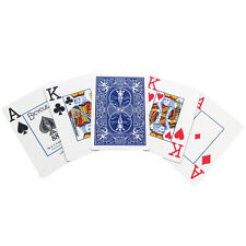 Bicycle Low Vision Playing Cards - Standard Size Poker Cards Blue or Red Back