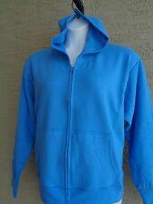 NWT Womens Hanes Soft Sweats Comfort Blend  Zip Front Hooded Sweatshirt 2XL Blue