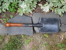 Wwii German or Swiss Entrenching Shovel Lc 40 Marked Nice Wood Handle Dated 1940