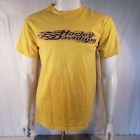 Harley Davidson House of Harley Milwaukee WI Mens T Shirt L Large Yellow