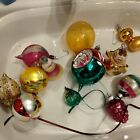 Lot of 12  Vintage Christmas Ornaments Glass Indent Shiny Brite Mica Stencil