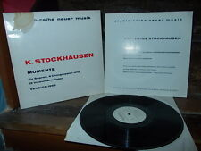 STOCKHAUSEN: Momente (1965 version) > Arroyo Kontarsky / Wergo stereo Germany LP
