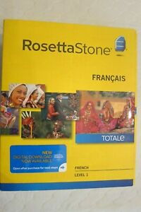 NEW Rosetta Stone LEARN FRENCH 1  CD SET + DIGITAL DOWNLOAD + HEADSET,VERSION 4