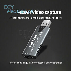 HDMI Video Capture Card USB 2.0 Mini 4K 1080P for Game Video Live Streaming US