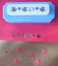 Craft frontera golpes-Corazón & Bird hecho a mano decoración de borde de elaboración de Tarjetas Punch