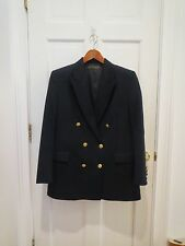 Boys BROOKS BROTHERS Navy Wool Double Breasted Suit Jacket w/Gold Button Size 16
