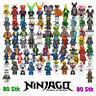 80Stk Ninjago Mini Figuren Sensei Wu Master Bausteine Spielzeug SetTP59