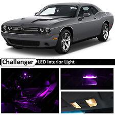 11x Fuchsia Purple Interior LED Lights Package Kit 2015 Dodge Challenger