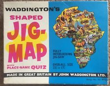 WADDINGTONS Jig-Map Jigsaw Puzzle AFRICA Vintage Retro